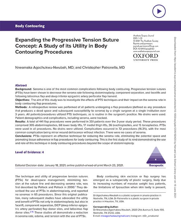 progressive tension suturing (PTS)